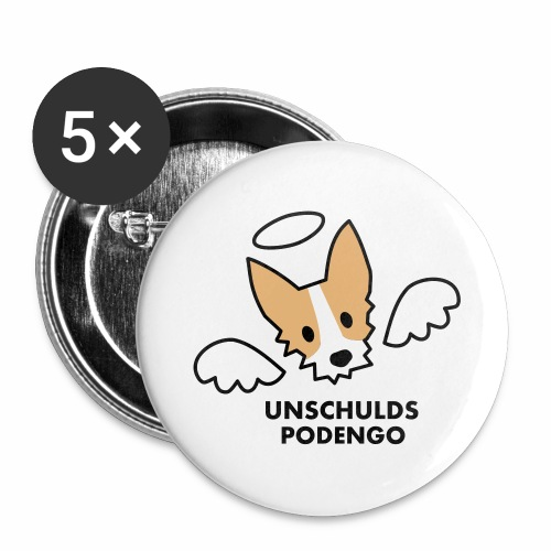 Unschulds-Podengo - Buttons groß 56 mm