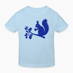 Light blue squirrel Kids' Shirts