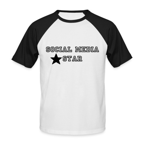 Social Media Star - Männer Baseball-T-Shirt