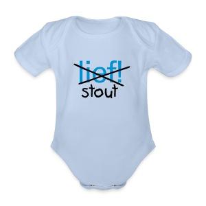 Rompertje Stout - Baby bio-rompertje met korte mouwen