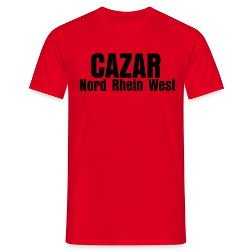 Tee with 'CAZAR;NORDRHEINWEST' inscription - Männer T-Shirt
