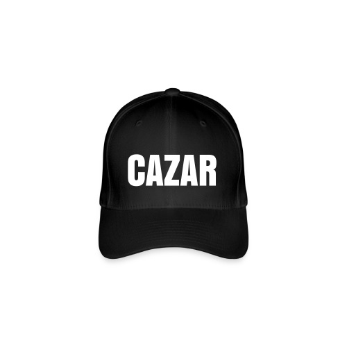 Black Cap with 'CAZAR' Logo - Flexfit Baseballkappe