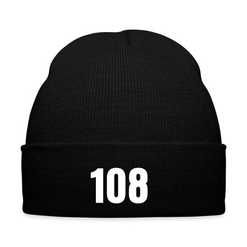Black Hat with '108' Logo - Wintermütze