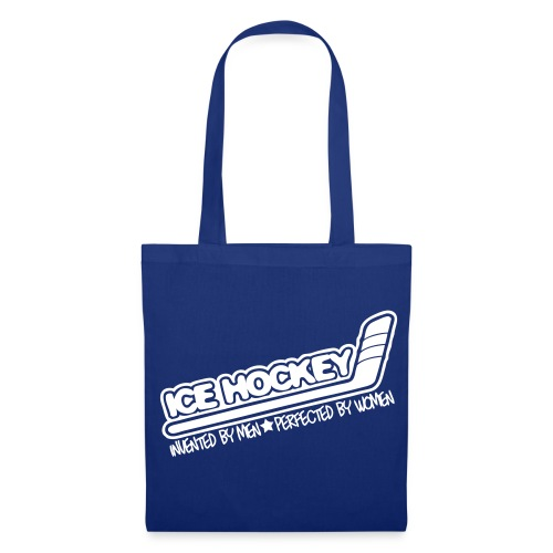 'Ice Hockey Perfected By Women' Tote Bag - Tote Bag