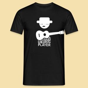 Menshirt: Ukulele Player (Motiv: weiß / vorne) - Männer T-Shirt
