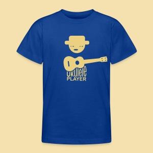 Kidshirt: Ukulele Player (Motiv: beige / vorne) - Teenager T-Shirt