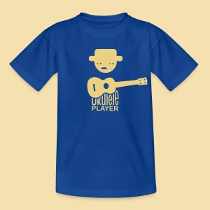 Kidshirt: Ukulele Player (Motiv: beige / vorne) - Teenager T-Shirt