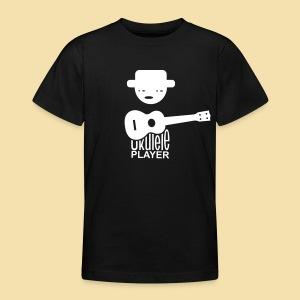 Kidshirt: Ukulele Player (Motiv: weiß / vorne) - Teenager T-Shirt