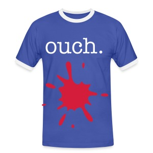 ouch. - Men's Ringer Shirt