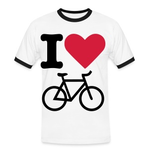 I Love Bikes - Men's Ringer Shirt