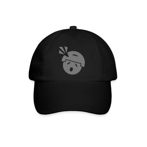 Headshot Maggot, schwarze Baseballkappe, Aufdruck in Grau - Baseballkappe