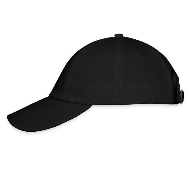 Headshot Maggot, schwarze Baseballkappe, Aufdruck in Grau