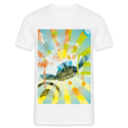 Sunglass Turtle  - Männer T-Shirt