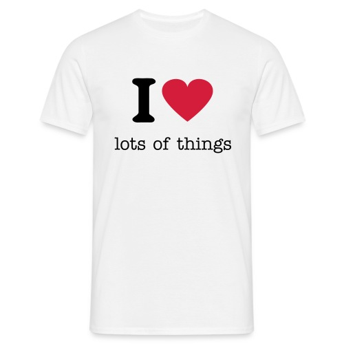 I heart lots of things, - Men's T-Shirt