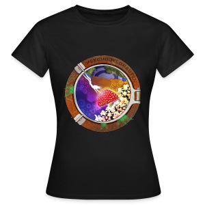 psychodelonauten-back Girls - Frauen T-Shirt