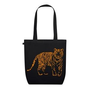 shirt tiger raubtier katze löwe puma lion cougar cat zoo wild tiershirt shirt tiermotiv tigermotiv party - Bio-Stoffbeutel