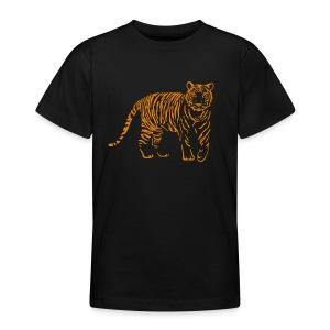 shirt tiger raubtier katze löwe puma lion cougar cat zoo wild tiershirt shirt tiermotiv tigermotiv party - Teenager T-Shirt