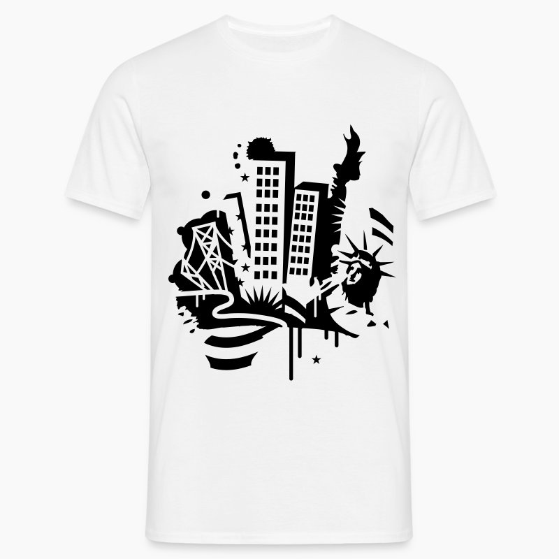 T Shirt Design York: T-shirt A New-York City Design Dans Le Style De Graffiti