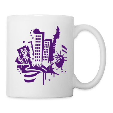 A New York City Design   in graffiti style Mugs