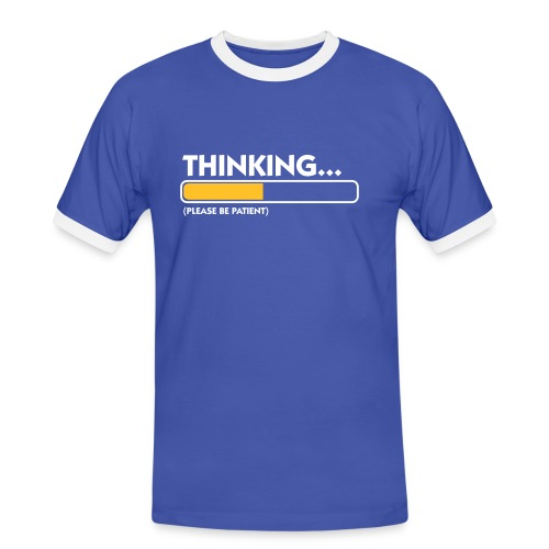 Thinking Man - T-shirt contrasté Homme