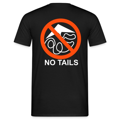 No Tails - black classic T - Men's T-Shirt
