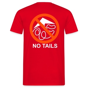 No Tails - red classic T - Men's T-Shirt