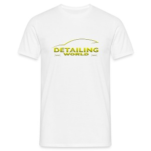 Detailing World 'Gold Logo' T-Shirt White (Men's) - Men's T-Shirt