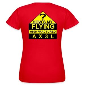How's My Flying - women's red T - Women's T-Shirt