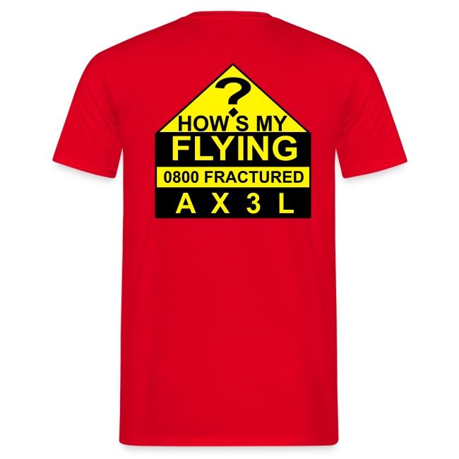 How's My Flying - men's red T