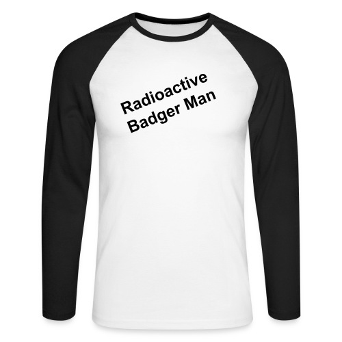 Mens Badgerman T Shirt - Men's Long Sleeve Baseball T-Shirt