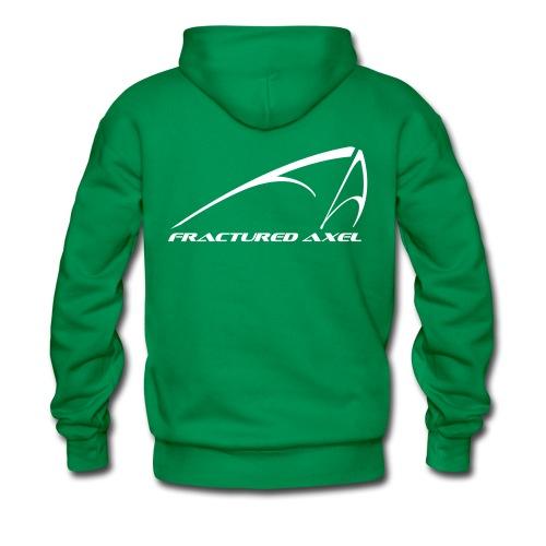 FA Logo hoodie - white print - Men's Premium Hoodie