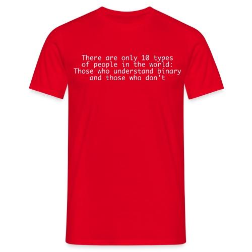 Understanding binary - Männer T-Shirt