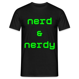 Nerd & Nerdy Black - Men's T-Shirt