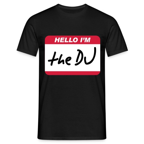 HELLO I'M THE DJ - T-skjorte for menn
