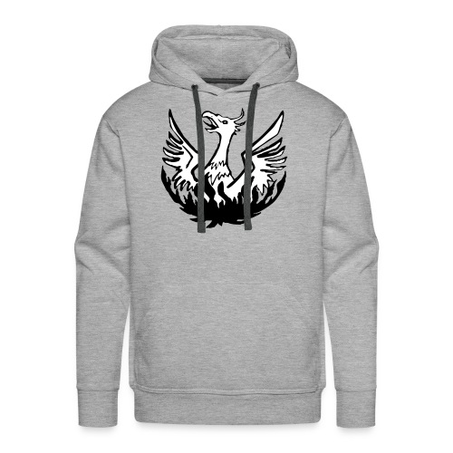 Grey Hoody, B&W logo - Men's Premium Hoodie