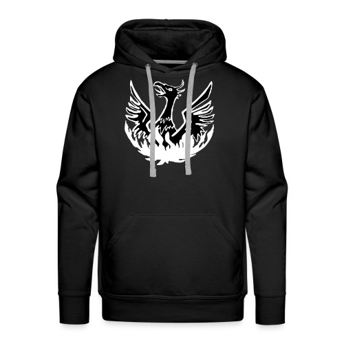 Black hoody, phoenix logo + NAME - Men's Premium Hoodie