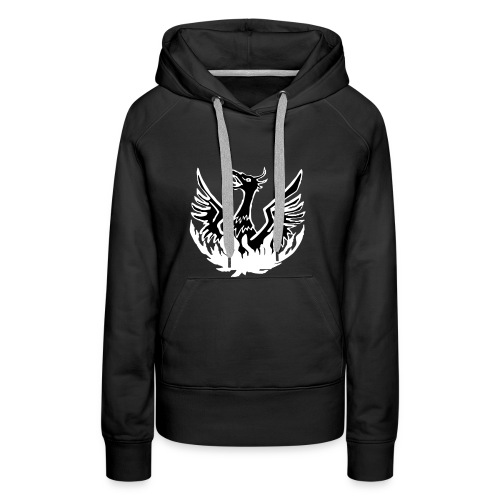 Girls' Black hoody, phoenix logo + NAME - Women's Premium Hoodie