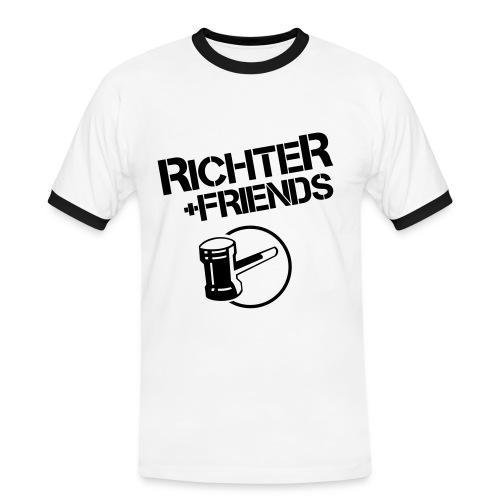 RICHTER+FRIENDS - Contrast-Shirt, white/black - Männer Kontrast-T-Shirt