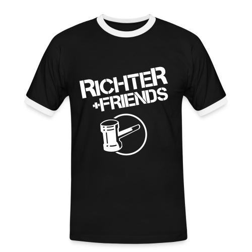 RICHTER+FRIENDS - Contrast-Shirt, black/white - Männer Kontrast-T-Shirt