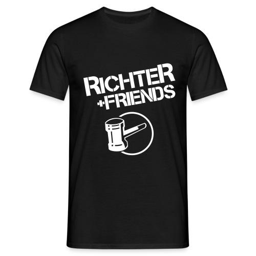 RICHTER+FRIENDS - Classic-Shirt, black - Männer T-Shirt