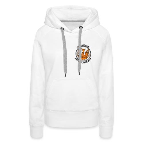 Girl's white hoody, Netherlands 2011 logo - Women's Premium Hoodie
