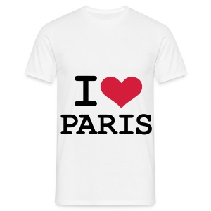 T-shirt : i love Paris - T-shirt Homme