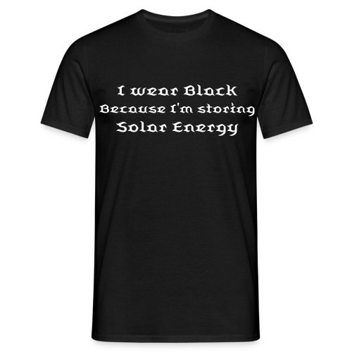 I wear Black - MALE - Men's T-Shirt