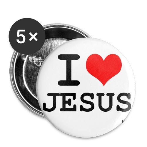 Jesus Badges - Buttons large 2.2''/56 mm(5-pack)