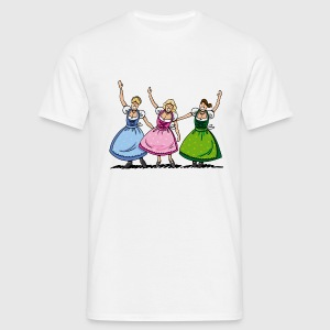 Herren T-Shirt Wiesn Dirndl Girls - Männer T-Shirt