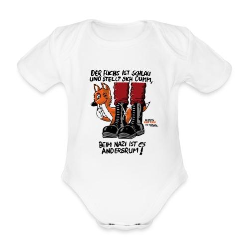 Der schlaue Fuchs - Baby Bio-Kurzarm-Body