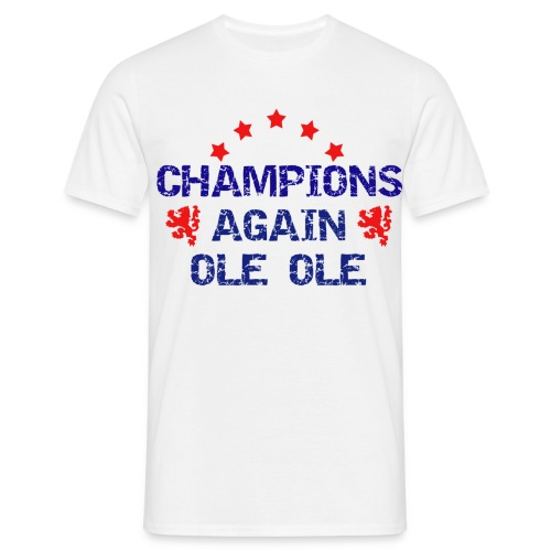 Champions again - white- Glasgow Rangers - Men's T-Shirt