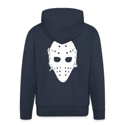 'Goalie Mask' Men's Zipped Hoodie - Men's Premium Hooded Jacket