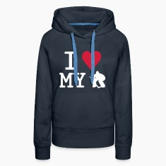 'I Love My Goalie' Sweat-shirt à capuche Femme
