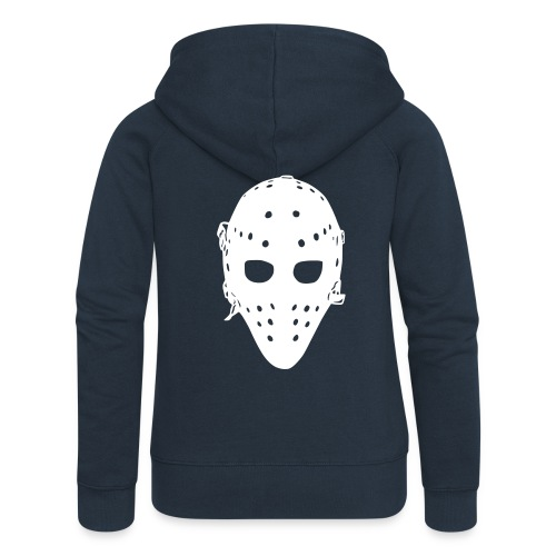 'Vintage Goalie Mask' Women's Jacket - Women's Premium Hooded Jacket